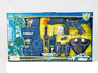 Детский набор полиции 33530, автомат, маска, бронежилет, бинокль, игра в полицейского, активные игры