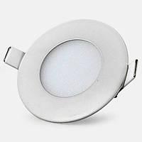 Светодиодная панель (врезная) круг 3Вт, 85мм