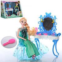 Мебель ZT8782  FR, трюмо, стул, кукла 29см, шарнирная,аксессуары, 2 вида, в кор-ке, 34-29-15см