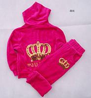 Детский спортивный велюровый костюм Золотая корона