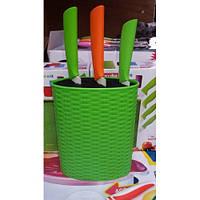 Подставка для ножей зеленая, голубая Kamille