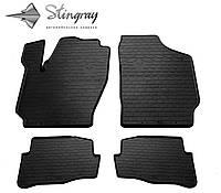 Резиновые коврики Stingray Стингрей Фольксваген Поло 2002-2009 02 Комплект из 4-х ковриков Черный в салон