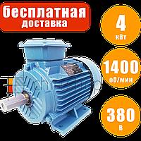 Электродвигатель асинхронный 1400 об., 4 кВт, 380 В, Eurotec AT 130, двигатель, електродвигун, електромотор