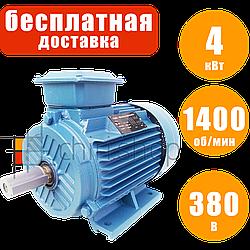 Электродвигатель 4 кВт 1400 об/мин 380 В, Eurotec AT 130 трехфазный электродвигатель переменного тока 1500 об