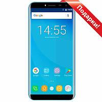 "★Смартфон 5.5"" OUKITEL C8, 2/16GB Blue гнутое стекло 2.5D LTPS камера 8 Мп 3000 mAh Android 7 отпечаток пальца"