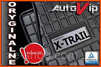 Резиновые коврики NISSAN X-TRAIL T30 2001-  с логотипом