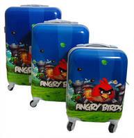 Детский пластиковый чемодан ANGRY BIRDS  Размер - М
