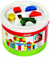 """Развивающая игрушка сортер """"Кубики в ведре"""" для детей от 1 года (30 деревянных кубиков) ТМ Bino 84195"""