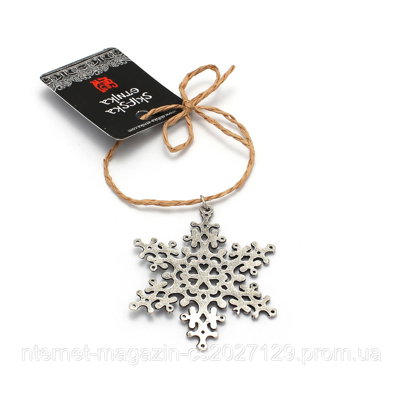 Игрушка Снежинка, Зимняя Сказка (серебро)