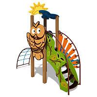 """Игровой комплекс """"Ручеек"""" (канантная лестница и декоративная панель """"Сова"""") InterAtletika TЕ701.3"""