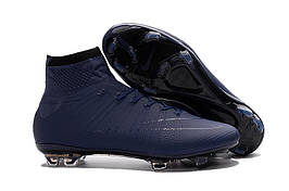Футбольные бутсы Nike Mercurial Superfly 2016 FG Navy Blue (топ реплика)