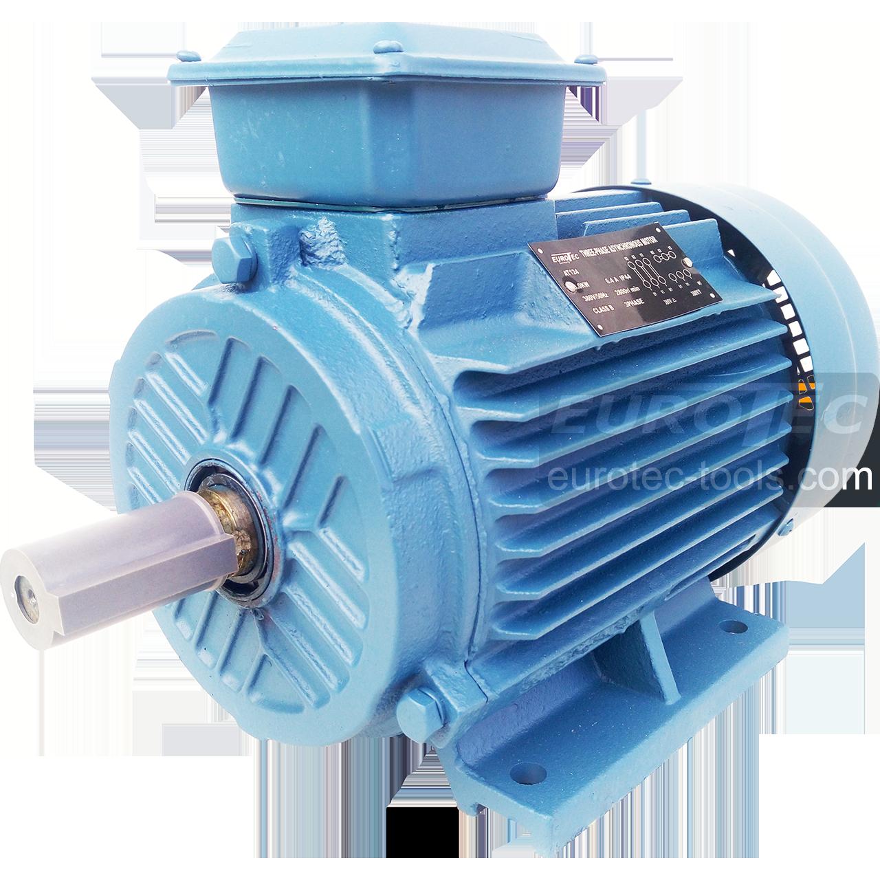 Асинхронный электродвигатель 2800 об. 3 кВт 380 В Eurotec AT 124 трехфазный двигатель переменного тока 3000 об