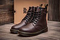 Зимние мужские ботинки Dr. Martens коричневые с 36 по 43 р