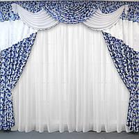Красивые шторы и ламбрекен в интернет магазине, фото 1