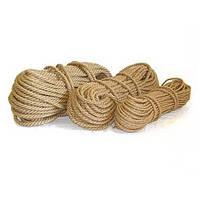 Канат джутовый верёвка 6 мм 50 метров