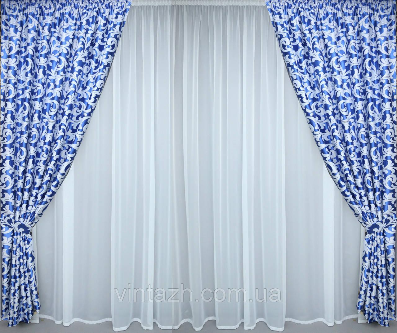 Модный комплект  шторы в гостиную в Украине