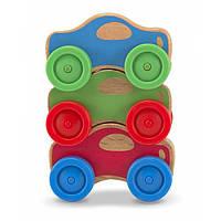 Деревянная игрушка Melissa Doug Автомобильная пирамидка MD4051, фото 1