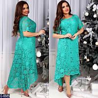 Гипюровое платье в разных цветах 52-58 р