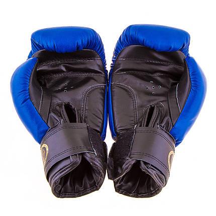 Перчатки боксерские кожа Profi (ФБУ,Boxer) 10 oz синие BX03812-10B, фото 2