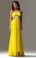 Платье в античном стиле с пайеткой желтое
