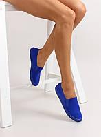 Синие стильные женские слипоны jx31 38