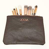 Кисти для макияжа Zoeva Rose Golden Brush (8 шт.) + клатч