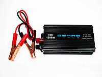 Инвертор преобразователь напряжения Power Inverter UKC 1200W 12V в 220V, фото 4