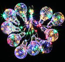 Новогодняя гирлянда 100 mikro  LED, Белый теплый белый свет, multicolor