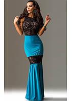Платье в оригинальном стиле с кружевными вставками