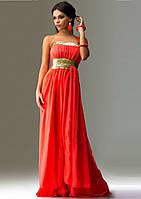 Платье в античном стиле с пайеткой красное