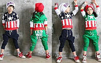 Стильный трикотажный костюм для мальчика и девочки с 3 до 6 лет