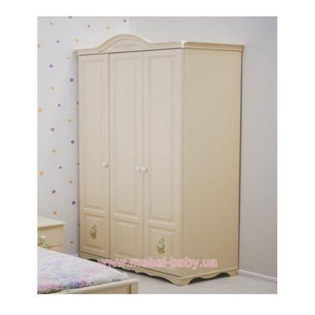 Шкаф «Эпоха-Прованс» Романтик, 3 двери (Ламинированное наполнение) Forest - www.mebel-baby.ua - магазин детской мебели в Киеве