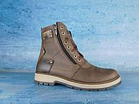 Сапоги мужские кожаные коричневые