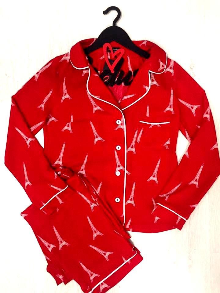 Молодежный пижамный комплект: рубашка и штаны