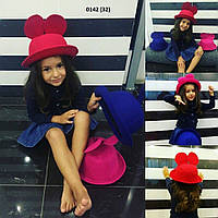 Стильная шляпка Микки детская 0142 (32)