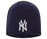 Шапка мужская  New York черный синий серый