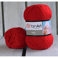 Пряжа YarnArt BABY Красный 576 - 6 шт