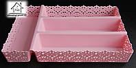 Лоток-фраже для ложек и вилок С049 розовый