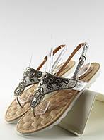 Серые женские сандалии Ljall 39,36, фото 1