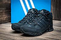 Зимние мужские кроссовки Adidas, темно-синие, на меху