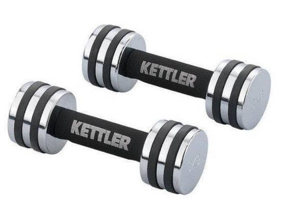 Гантели для фитнеса хром KETTLER 5кг, фото 2