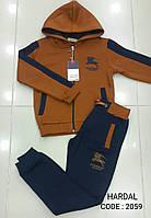 Спортивный костюм теплый на мальчиков 110,116,128 роста Dofbi Ярко-горчичный