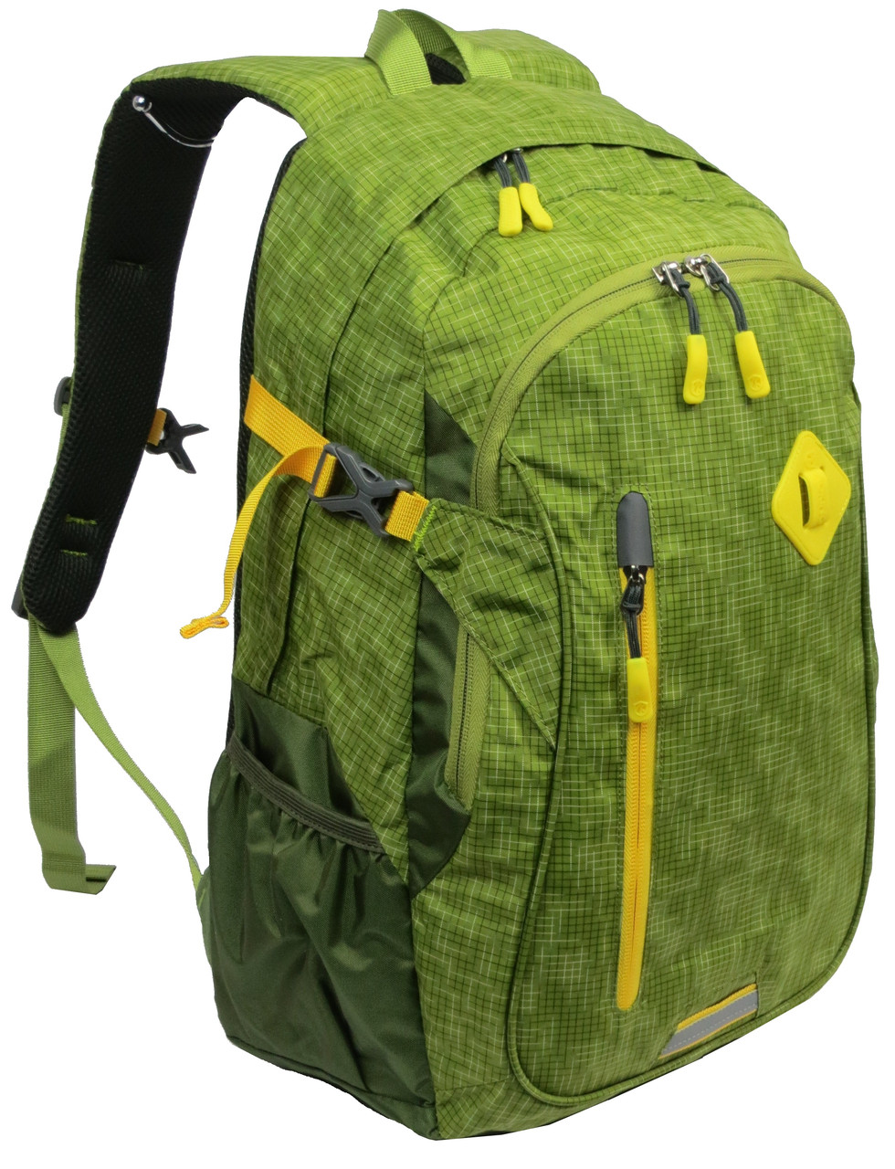 Яркий спортивный рюкзак с удобной спинкой 18 л. Aoking 703221 салатовый