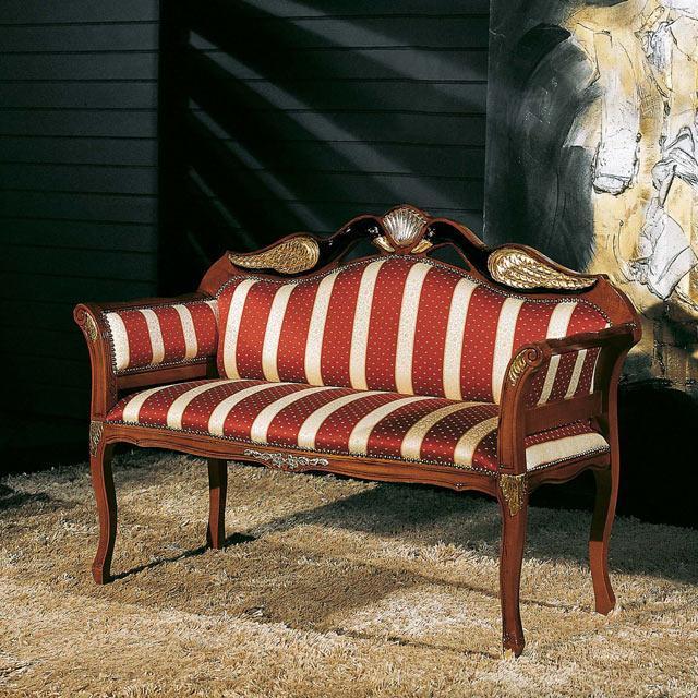 диван двухместный Frame италия 198 козетка в стиле барокко цена купить недорого