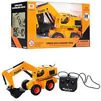 Детский игрушечный Экскаватор на дистанционном управлении 6825A, 30см, подвижный ковш, вращ360, на бат-ке