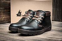 Зимние мужские ботинки Clarks Originals, натуральная кожа, на меху, чёрные