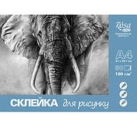 Склейка для рисунка А4, 100г/м2, 50л, ROSA START