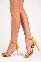Желтые женские босоножки LE021Y