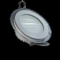 Светодиодная панель (врезная) круг 6Вт, 97мм, со стекляной рамкой, фото 1