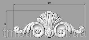 Горизонтальний декор 101 - 155х60 мм, фото 2